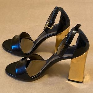 Authentic Marni Gold Heel Leather Sandals-size 37